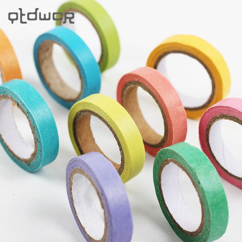 10PCS Cute Kawaii Rainbow Roll Masking Paper Washi Tape Decorative Adhesive Tape Decor DIY Scrapbooking Sticker Label Stationery
