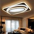 Modernas Luzes de Teto de LED Acrílico Retângulo Lâmpada Do Teto Para Casa luminaria Quarto Sala luminárias Lustre de Iluminação Interior