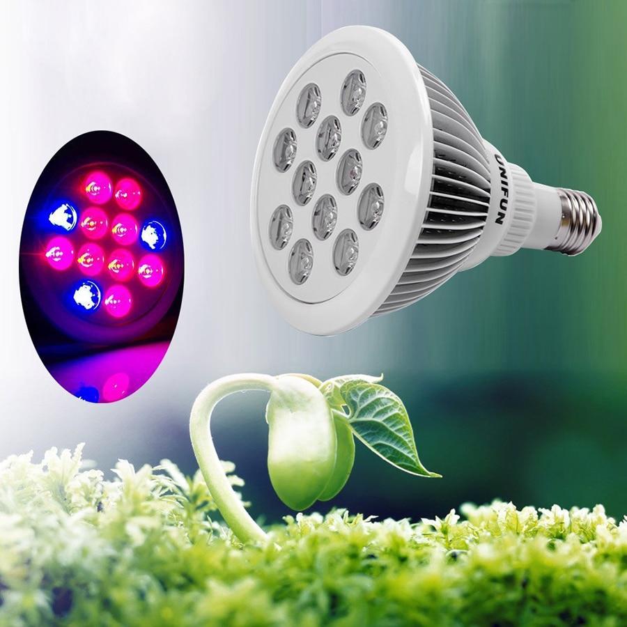 Full Spectrum E27 9W 12W AC85 265V Led Grow Lights Plants