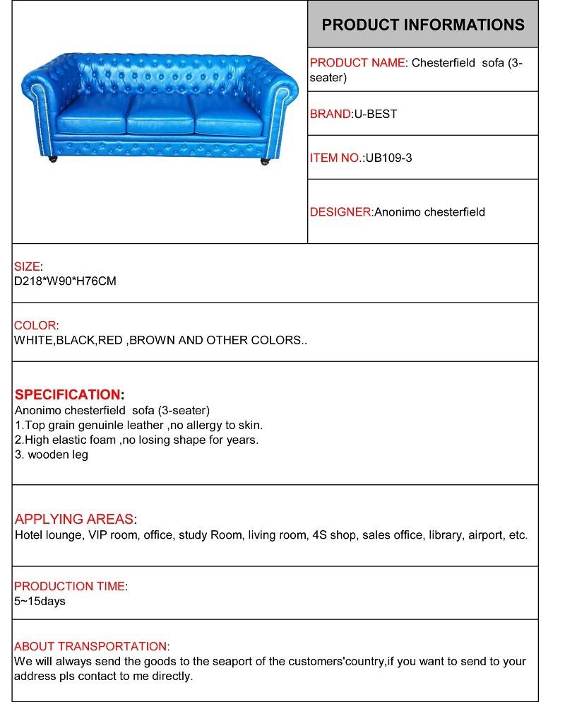 Anonimo chesterfield  sofa (3-seater)
