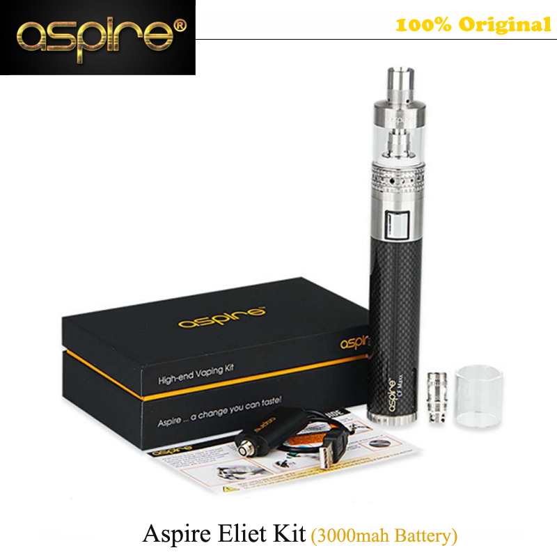 все цены на  Original Aspire Mechanical E Cigarette Aspire Elite Kit with 5ml Large Atomizer Atlantis Tank 3000mAh Battery vape Kit vs Eleaf  онлайн