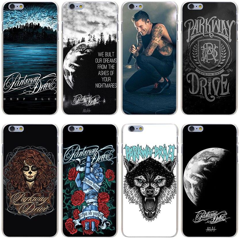 Parkway Drive Hard Transparent Cover Case for iPhone 7 7 Plus 6 6S Plus 5 5S SE 5C 4 4S