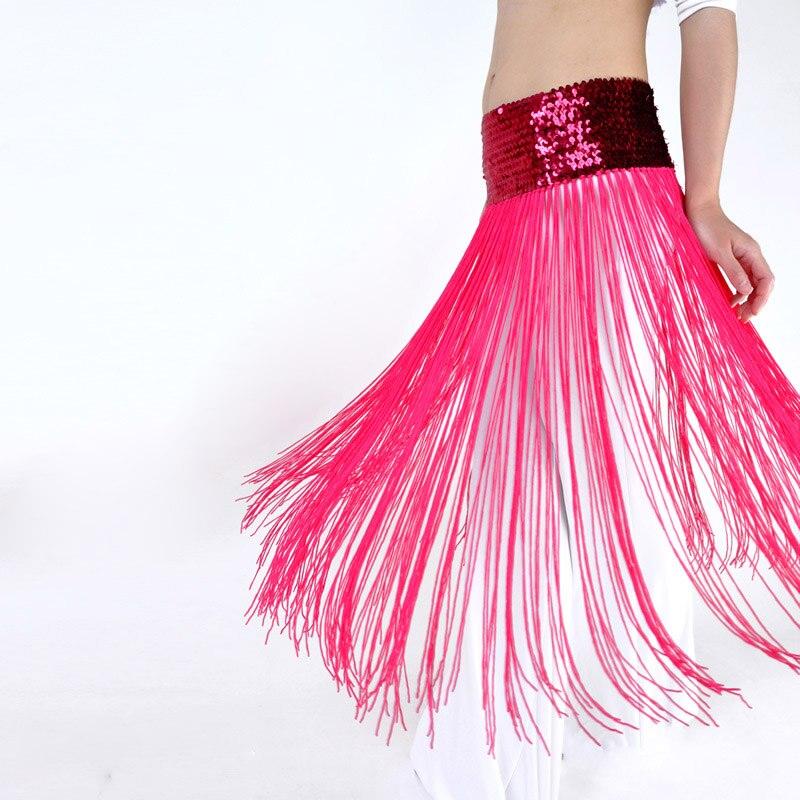 2019 New Style Belly Dance Accessories Sequin Waist Chain For Dancer Or Dress Decoration Dance Tassels Belt Bellydance Hip Scarf