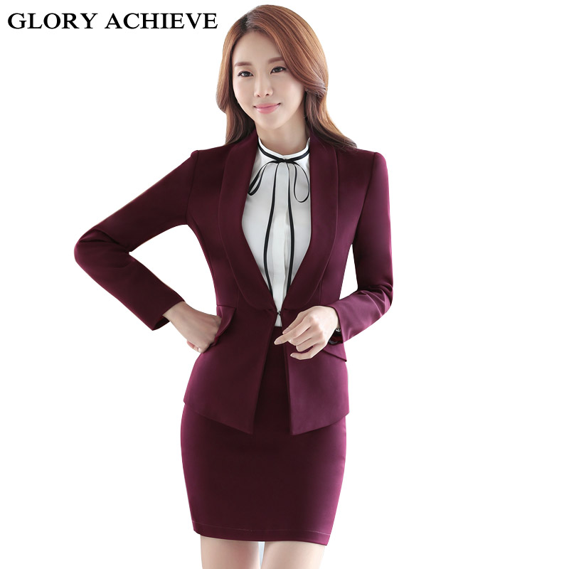 Spring Autumn Two pieces Suits Ladies Formal Skirt Suit Office Uniform Style Female Business Suit For Work Women Blazer Set high quality woman suit 2 pieces set army green long sleeve suede blazer suit set casual vintage two pieces set women suits