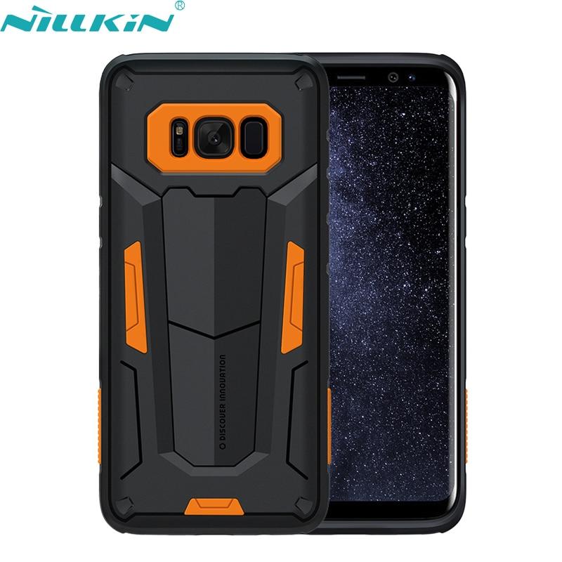 Pour Samsung Galaxy S8 Cas 5.8 ''G950f Couverture NILLKIN Defender II qualité PC et TPU Hybride Armure De Protection Couverture Arrière Cas de Téléphone