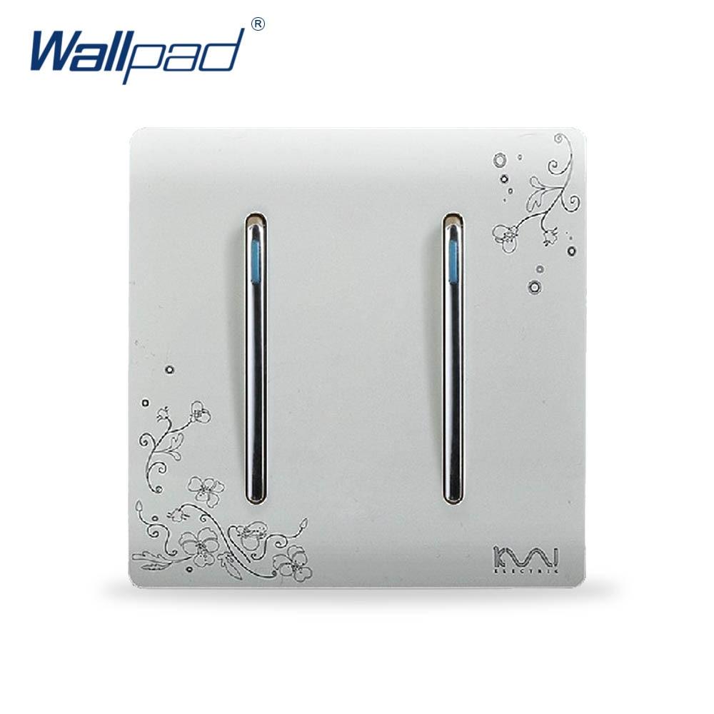 2 Gang 1 Way Switch Hot Sale Wholesaler Wallpad Luxury
