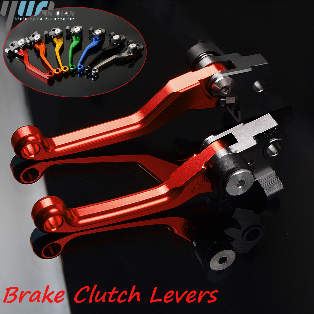 One pair Universal Motorcycle CNC Pivot Brake Clutch Levers for honda <font><b>CRF450R</b></font> <font><b>crf450r</b></font> 2007-2018 2017 <font><b>2016</b></font> 2015 2014 2013 2012 image