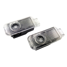 2X LED Car Door Light Logo Projector Lamp For SKODA Superb Oktavia Fabia 09