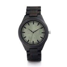 BOBO de AVES H03 Madera Del Reloj Para Hombre Verde Dial Negro Correa de Reloj Negro Correa de Cuero De Madera Disponible relogios masculinos