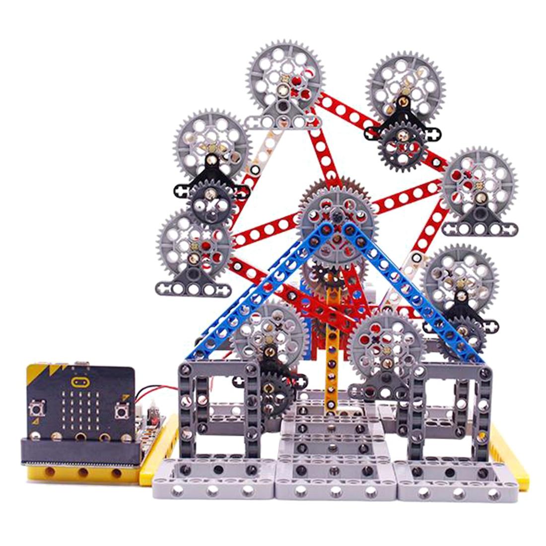 Hot Micro:Bit Programmable Building Block DIY Smart Ferris Wheel Kit Learning Kit Programmable Dancing Robot Kits Electronic Toy