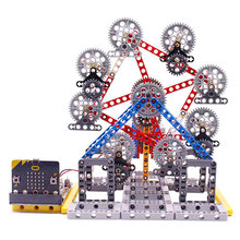 Hot Micro:Bit Programmable Building Block DIY Smart Ferris Wheel Kit Learning Kit Programmable Dancing Robot Kits Electronic Toy(China)