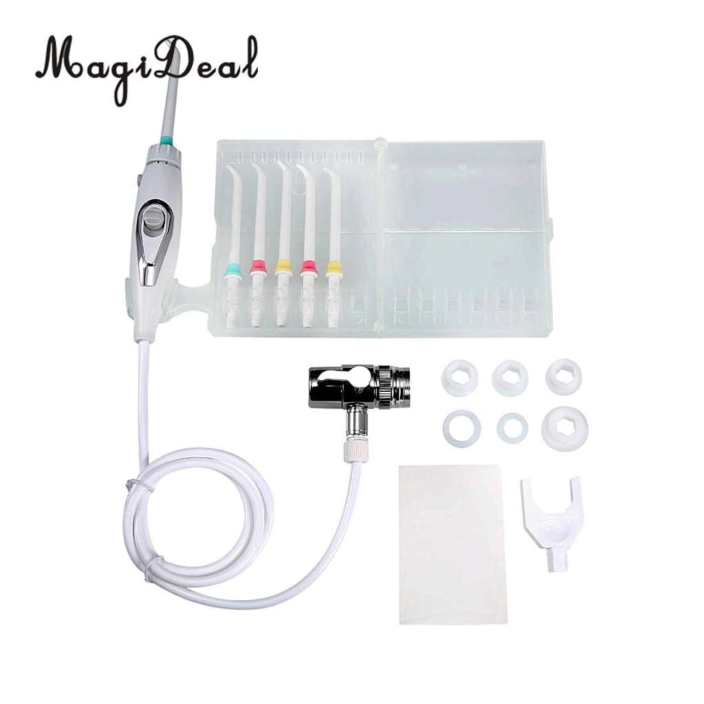 все цены на Portable Dental Irrigator SPA Dental Water Jet Flosser Teeth Flossing Pick Cleaner Set Interdental Brush онлайн
