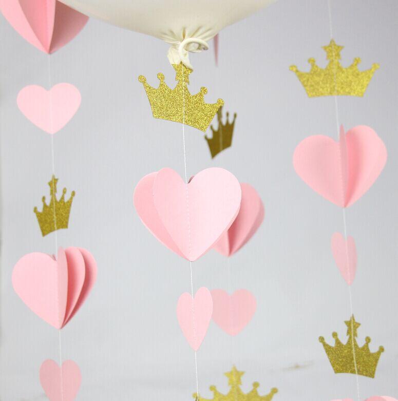 Princesa corona corazón guirnalda fiesta decoración cuarto ...