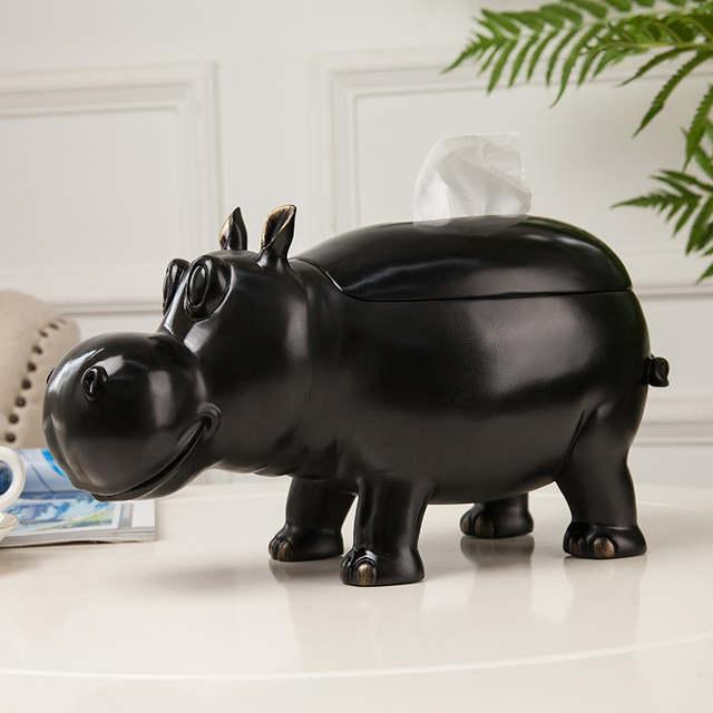 Creative Geometry Cute Hippo Paper Holder Phone Tv Control Key