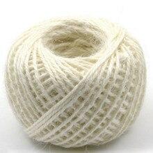 cuerda sisal rope corda de touw red blue white yellow green purple orange pink diameter 2MM 100M/LOT free shipping