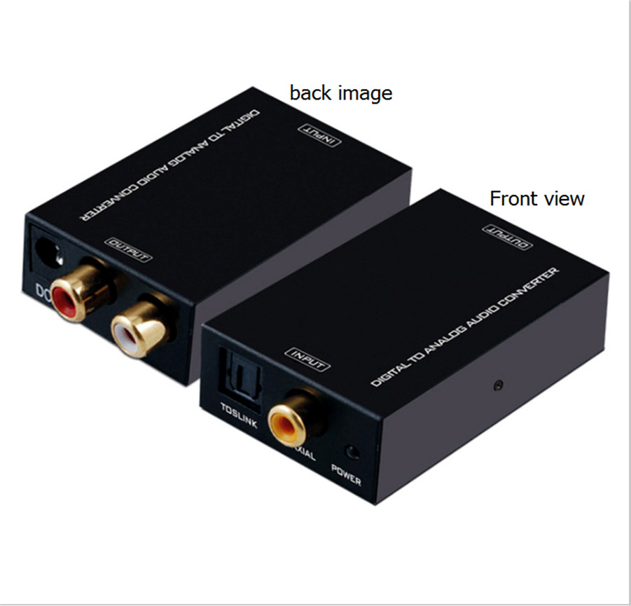 Optical-Fiber Converter Digital To Analog Audio RCA MT-DA21 AV L/R
