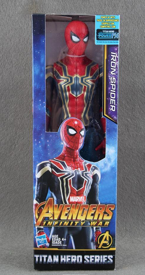 Marvel Avengers Infinity War SERIE TITAN HERO IRON SPIDER Power FX PORTA Figura