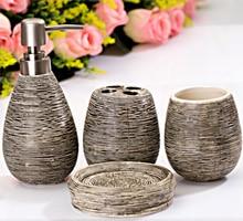 Creative Home Bathroom Accessories Set Simple Ceramic Bathroom Toiletries Soap Dispenser Toothbrush Holder Soap Dish Cup LFB277