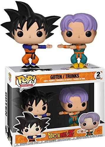 Funko pop Amina exclusivo: dragon Ball Z-Goten/Troncos 2 pacote de Vinil Figuras de Ação Collectible Toy Modelo com Caixa Original