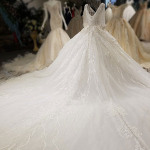 Image 5 - AIJINGYU Trouwjurken China Shiny White Nieuwste Stijl Bruiloft Plus Size Lace Cap Nova Bruidsjurk Online Verkoop