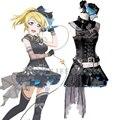 Love Live Lovelive Eli Ayase Ellie Bibi Rock Roll Dress Cosplay Costume Full Set