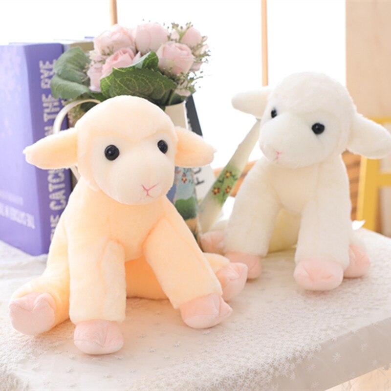 New 1pc 18/25cm Cute Sheep Plush Toy Soft Cartoon Animal Lamb Stuffed Doll Llama Toys Baby Accompany Little Girls Birthday Gift