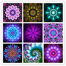 5D DIY Full Diamond Embroidered Beautiful Colorful Flower Fantasy Series  Painting Cross Stitch Mosaic Decoration