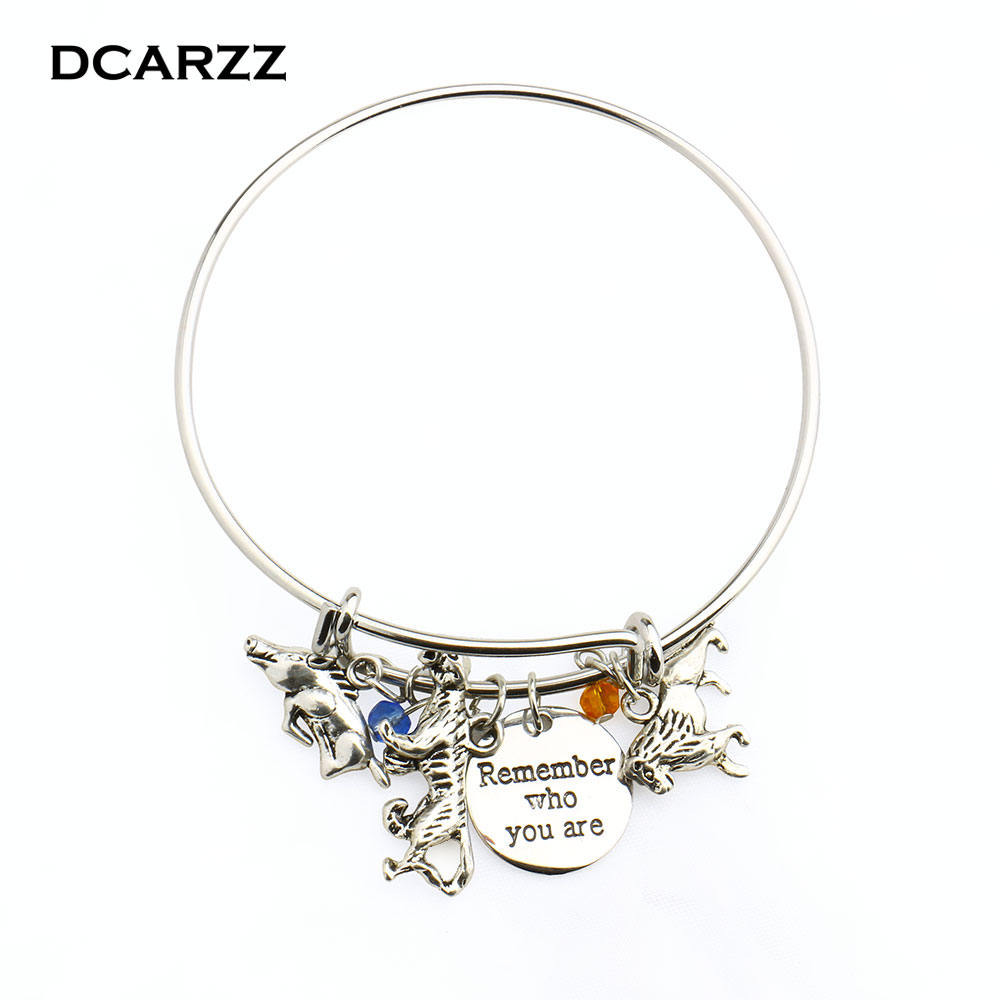 "2019 Lion King""remember who you are"" Women Charm Bracelet Lion,Pig,Panther Adjustalbe Copper Bangle Simba Jewelry Wholesale"