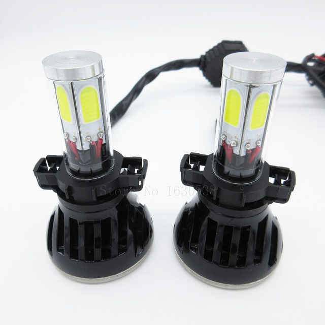 2pcs/lot 80W 8000LM LED 5202 Fog Driving Light Bulb H16 PSX24 Replacement For Xenon Hid Headlight Kit DC12V