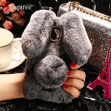 Luxury Rabbit Fur Cases For Wiko Tommy2 View2 Plus Lenny3 Max U Feel Pulse Upulse Wim Lite Pulp Fab 4G View Prime XL Case Coque(China)