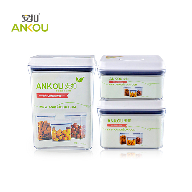 Stock Clearance ANKOU 3 units a Set Transparent Square Airtight