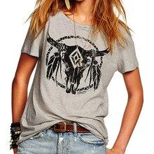 Летняя новинка, Европейский уличный стиль, принт быка, короткий рукав, футболка для женщин, свободная женская футболка, модные женские топы, футболка Z2311