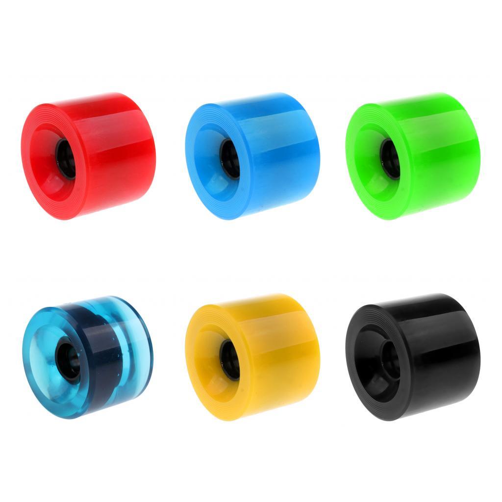 Replacement 70 X 51mm Durable Pro Blank Skateboard PU Wheels Longboard Mini Cruiser Wheel Parts