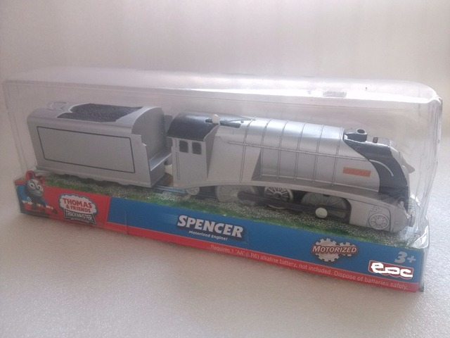 NIB Electric Thomas and friend Trackmaster engine Motorized train Chinldren kids toys NIB-- Spencer wtih a carriage NEW IN BOX