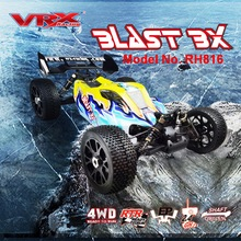 VRX ראסינג RH816 brushless 1/8 בקנה מידה 4WD חשמלי off road rc רכב, RTR/60A ESC/3650 מנוע/11.1 V 3250 mAH Lipo סוללה/2.4 GHz