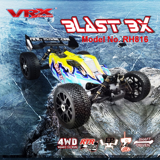 VRX Racing RH816 brushless 1/8 scale 4WD Electric off road rc car,RTR/60A ESC/3650 motor/11.1V 3250mAH Lipo Battery/2.4GHz