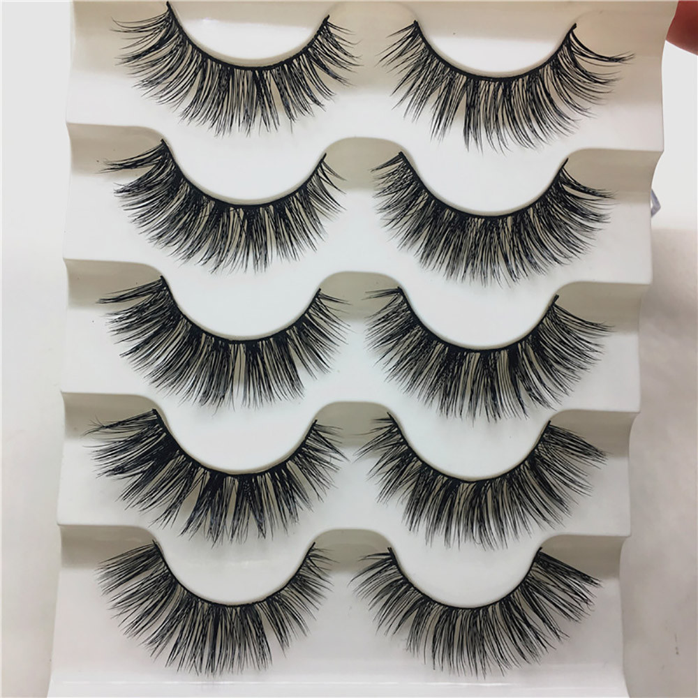 ISHOWTIENDA 2018 Luxury 3D Mink False Lashes Fluffy Strip Natural Long Thick Eyelashes Extension Party Dropshipping