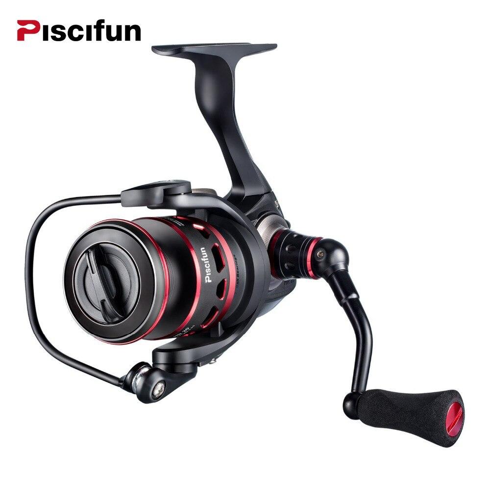Piscifun honneur pêche bobine 10 KG Max glisser scellé en Fiber de carbone glisser 10 + 1 roulements noir + rouge lumière rotation moulinets