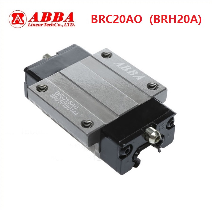 4pcs Original Taiwan ABBA BRC20AO/BRH20A Linear Flange Block Carriage Linear Rail Guide Bearing for CNC Router Laser Machine4pcs Original Taiwan ABBA BRC20AO/BRH20A Linear Flange Block Carriage Linear Rail Guide Bearing for CNC Router Laser Machine