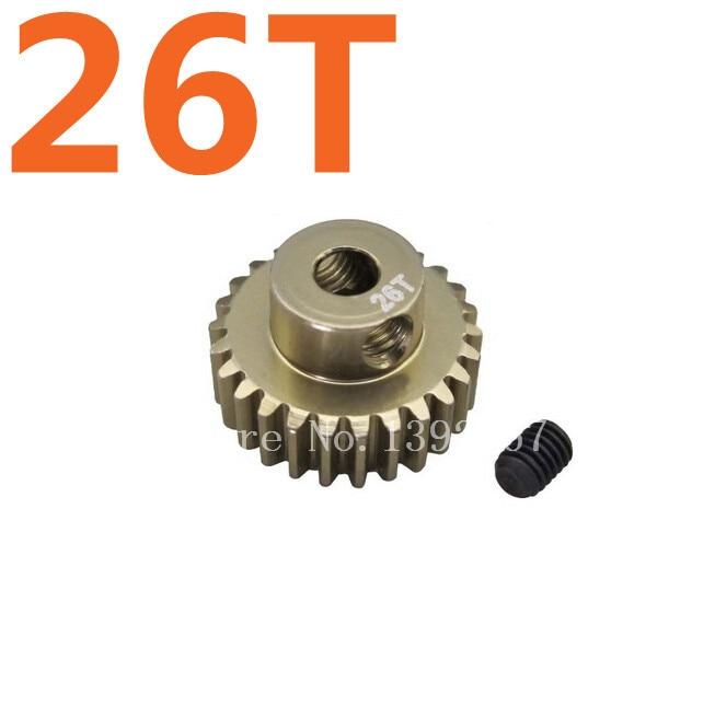 Alloy 7075 Hard Coated Motor Gear 48P 24T for 1//10 RC Car SAKURA D3