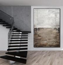 Wall Art Abstract Original Oil Painting on Canvas Large Big Huge painting Umber Contemporary Vertical Hand Painted