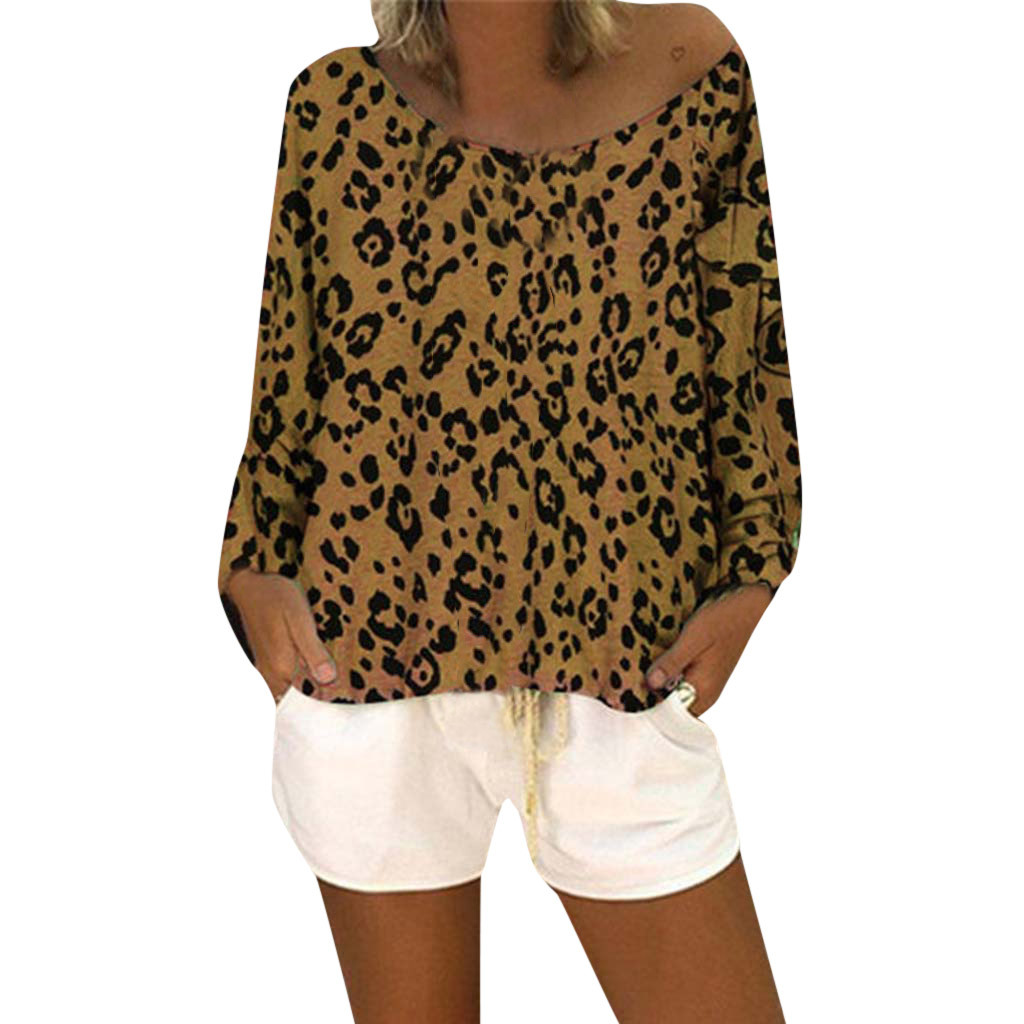 SAGACE sexy Womens Tshirt 2019 Summer Leopard Casual Loose Baggy Tops Tunic T Shirts Women Top Slim Fit Soft harajuku tshirt new