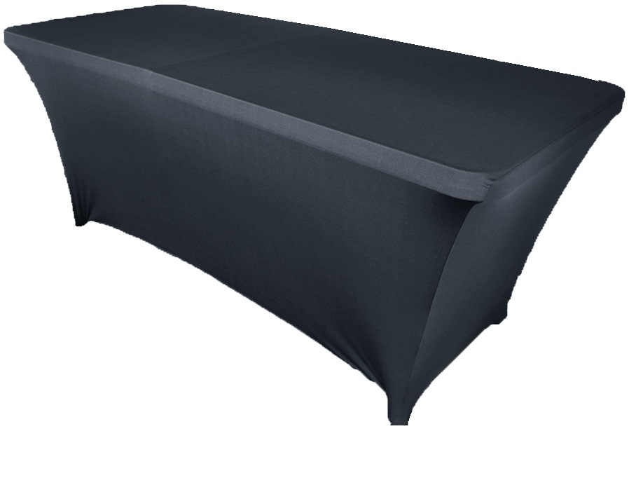 10pcs Black 6ft Square Strenth Spandex Table Covers