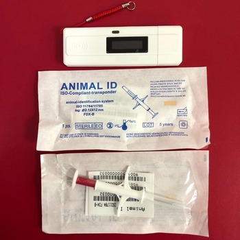 Portable ISO FDX-B Pet Microchip Scanner Animal RFID Chip Reader 134.2KHz Handheld Reader+20pc 2*12mm FDX rfid microchip syringe