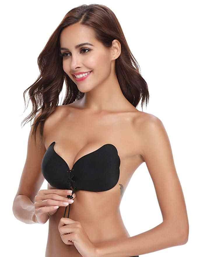 db65420bea7f Magic Wing Strapless Bra Silicone Push-up Strapless Backless Self-adhesive  Sticky Invisible Bra