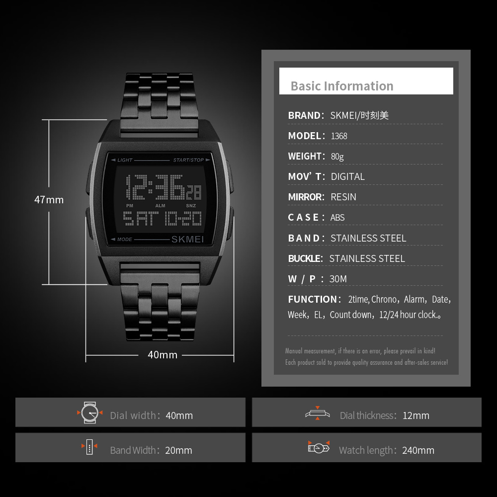 Image 5 - SKMEI Military Sport Watch Men Top Brand Luxury Electronic Wristwatch LED Digital Wrist Watches For Male Clock Relogio MasculinoDigital Watches   -