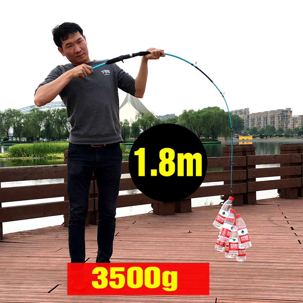 1.5m 1.8m lure rod casting spinning 3 g-21 g ultra light boat lure - Memancing - Foto 3