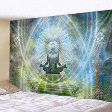 Indian Buddha Statue Meditation Tapestry Wall Hanging Mandala Tapestries Cloth Psychedelic Yoga Carpet Boho Decor