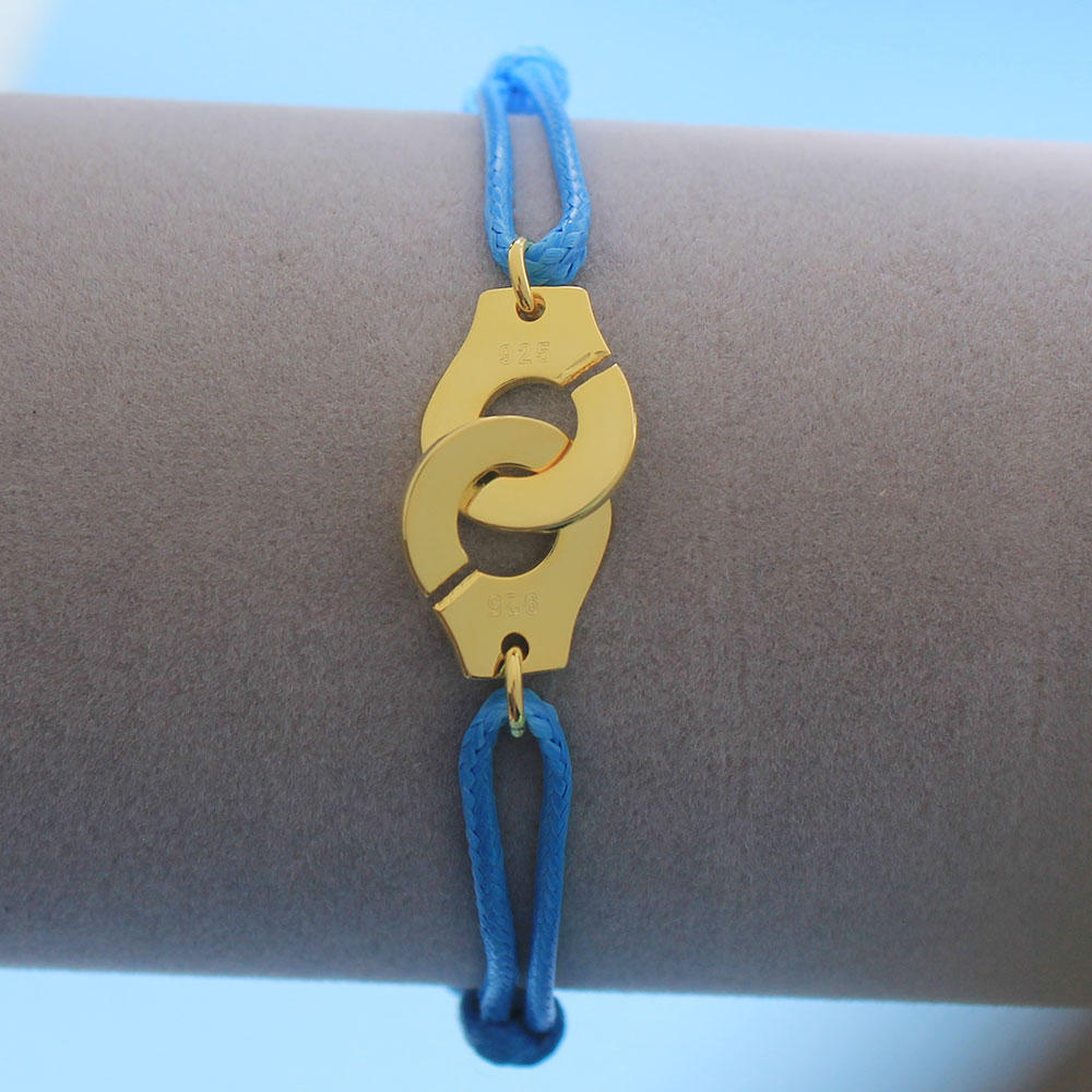 Мужские ювелирные изделия из стерлингового серебра 925 браслет наручники для женщин Bijoux с регулируемой веревкой 925 Серебряный кулон браслет для мужчин - Окраска металла: BY