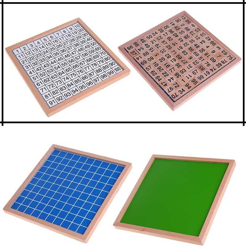1-100 ดิจิตอลคณะกรรมการไม้ Montessori ของเล่นคณิตศาสตร์ Montessori วัสดุเด็กของเล่นเพื่อการศึกษา Digital Board